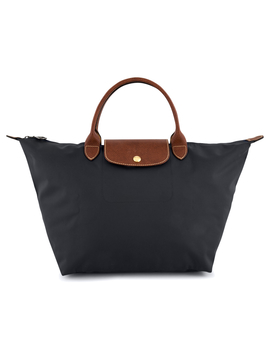 Longchamp Le Pliage Medium Top Handle Bag   Gunmetal by Longchamp