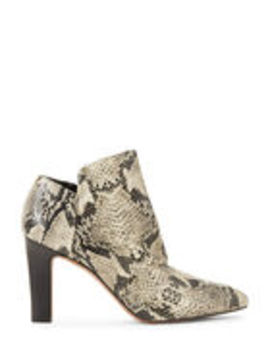 Rock Kora Snakeskin Effect Ankle Booties by Franco Sarto