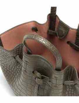 Lynne Mini Faux Leather Tote by Nanushka