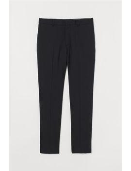 Pantaloni De Lână Skinny Fit by H&M