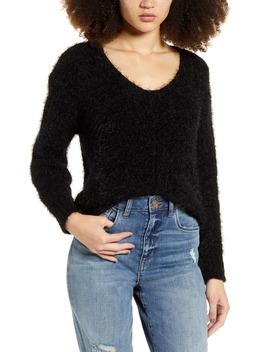 V Neck Eyelash Chenille Sweater by Bp.
