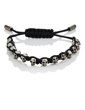 Skull Charm Friendship Bracelet by Alexander Mc Queen
