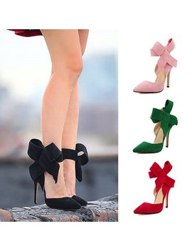 New Women Pumps Comfort Women Shoes Bow High Heels Casual Ladies Shoes Women Sandals Pointed Woman Heels Stiletto Plus Size 43 by Ali Express.Com