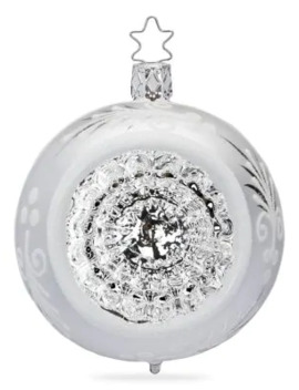 Reflector Glass Ball Ornament by Inge's Christmas Decor