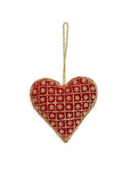 Velvet Heart Ornament by Sudha Pennathur
