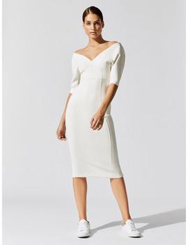 Reverse Neoprene Zip Dress by Carbon38