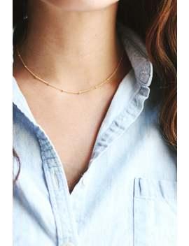 Satellite Beaded Choker Necklace | 14k Gold Fill | Sterling Silver | Layer Necklace | Fine Gold Choker | Layered Choker | Minimal Jewelry by Etsy
