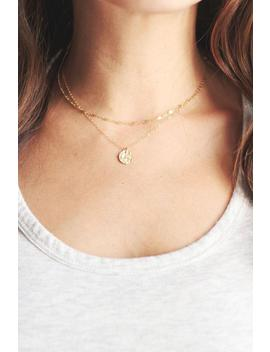Tiny Hammered Disc Necklace | 14k Gold Fill Necklace | Sterling Silver Necklace | Layer Necklace by Etsy
