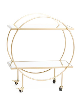 Mirrored Round Bar Cart by Tj Maxx