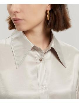 Dimara Long Satin Shirt Dress by Acne Studios