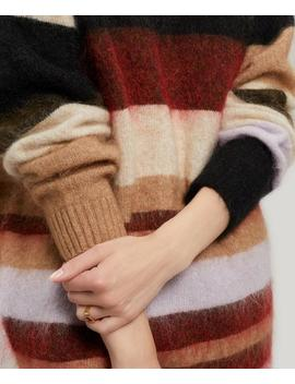 Oversized Striped Mohair Blend Crew Neck Jumper by Acne Studios