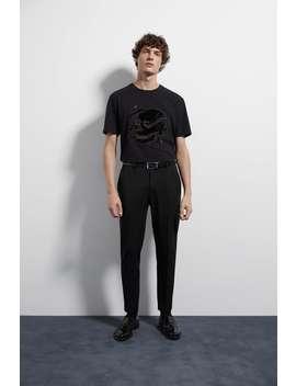 Combined Skull T Shirt by Zara