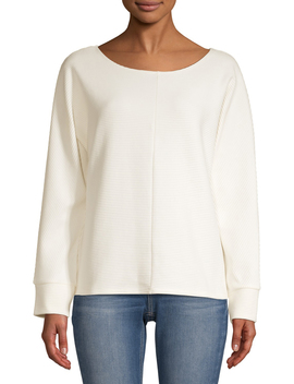 Time And Tru Women's Ottoman Stitch Top by Time And Tru