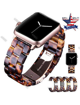 Tortoise Shell Lines Belt Strap For Apple Watch 38 40 42 44 Band Series 4 3 2 1 by Handmade