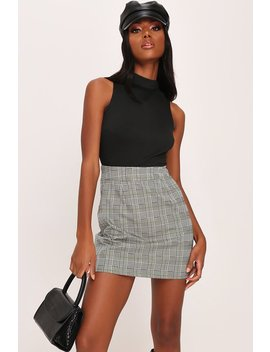 Grey Check A Line Mini Skirt by I Saw It First