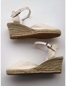 Ankle Strap Espadrille Wedges   Ivory   Made In Spain   Www.Mumicospain.Com by Etsy