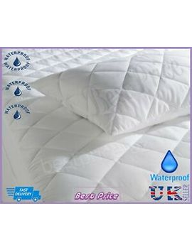 New Luxury Waterproof Deep Fitted Quilted Mattress& Pillow Protector All Sizes by Ebay Seller