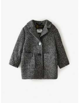 Herringbone Wool Coat by Zara