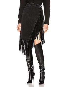 Indira Fringe Wrap Skirt by Grlfrnd