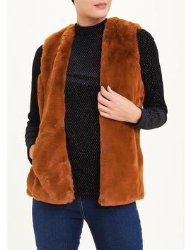 Rust Faux Fur Gilet by Matalan