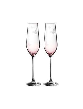 Miranda Kerr Glass Flute Pair Pink 230m by Royal Albert