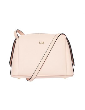 Pale Pink Structured Cross Body Bag by The Daily Edited