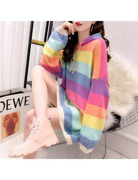 Beaustreet   Striped Mini Knit Hoodie Dress by Beaustreet