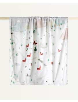 Christmas Postcard Blanket by Zara Home