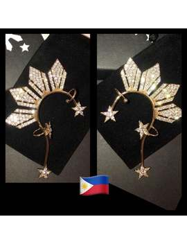 Happy Holidays Sale! Miss Universe Philippines  Inspired 3 Stars And A Sun Rhinestone Earcuff. Right Side Sold Out. Will Restock 12/11. by Etsy