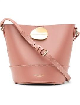 690 Petal Bucket Bag Pink Leather by Kurt Geiger London