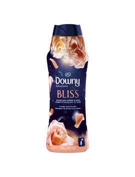 Downy Infusions In Wash Scent Booster Beads, Bliss, Sparkling Amber & Rose, 20.1 Oz by Downy