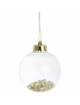 Wilko Luxe Sparkle Encapsulated Gold Star Tree Bauble Wilko Luxe Sparkle Encapsulated Gold Star Tree Bauble by Wilko