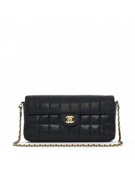East West Chocolate Bar Leather Handbag by Chanel