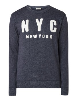 Simon Sweater Met Tekstborduring  by Selected Homme