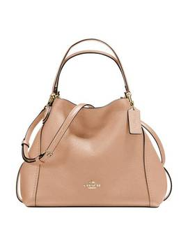 Beechwood Pebble Leather Edie 28 Shoulder Bag by Coach