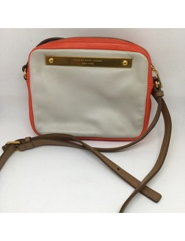 Marc By Marc Jacobs Orange And Cream Crossbody by Marc By Marc Jacobs