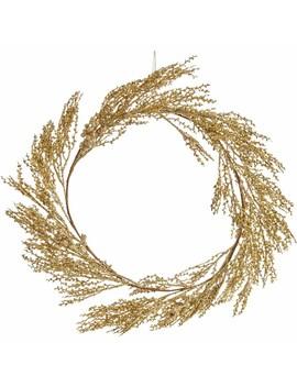 Wilko Gold Glitter Wreath 50cm Wilko Gold Glitter Wreath 50cm by Wilko