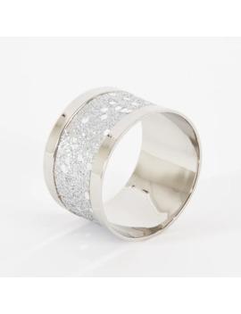 Sparkling Design Napkin Rings (Set Of 4) by Saro Lifestyle