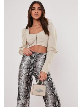 Blush Sweetheart Hook And Eye Crop Top by Missguided