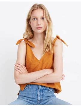Tie Strap V Neck Tank Top by Madewell