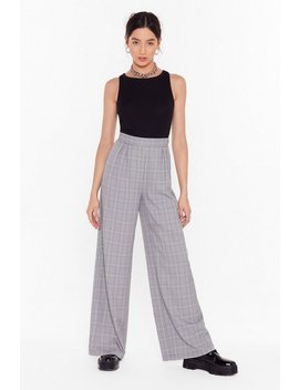 Not At Your Check And Call Wide Leg Trousers by Nasty Gal