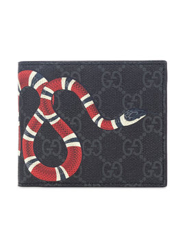 Gucci Gg Supreme Snake Billfold Wallet by Gucci