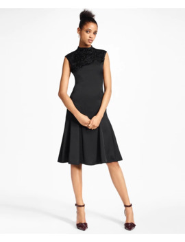 Beaded Satin A Line Dress by Brooks Brothers