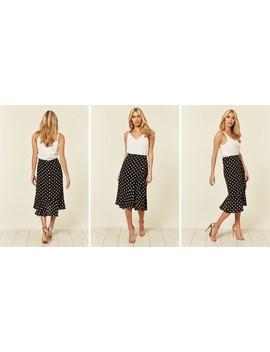 2 In 1 Polka Dot Frill Hem Dress by Ax Paris