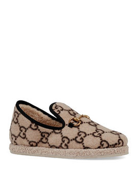 Fria Gg Wool Slippers by Gucci