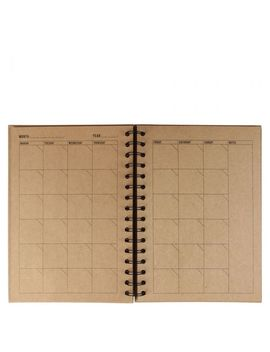 A5 Kraft Timeless Monthly Diary by Paperchase