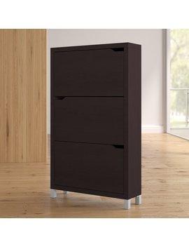 18 Pair Wood Shoe Storage Cabinet by Latitude Run