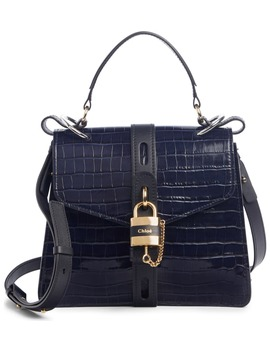 Medium Aby Croc Embossed Calfskin Shoulder Bag by ChloÉ