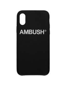 Ssense Exclusive Black Logo I Phone Xs Max Case by Ambush