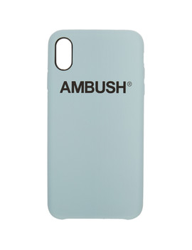 Ssense Exclusive Blue Logo I Phone Xs Max Case by Ambush